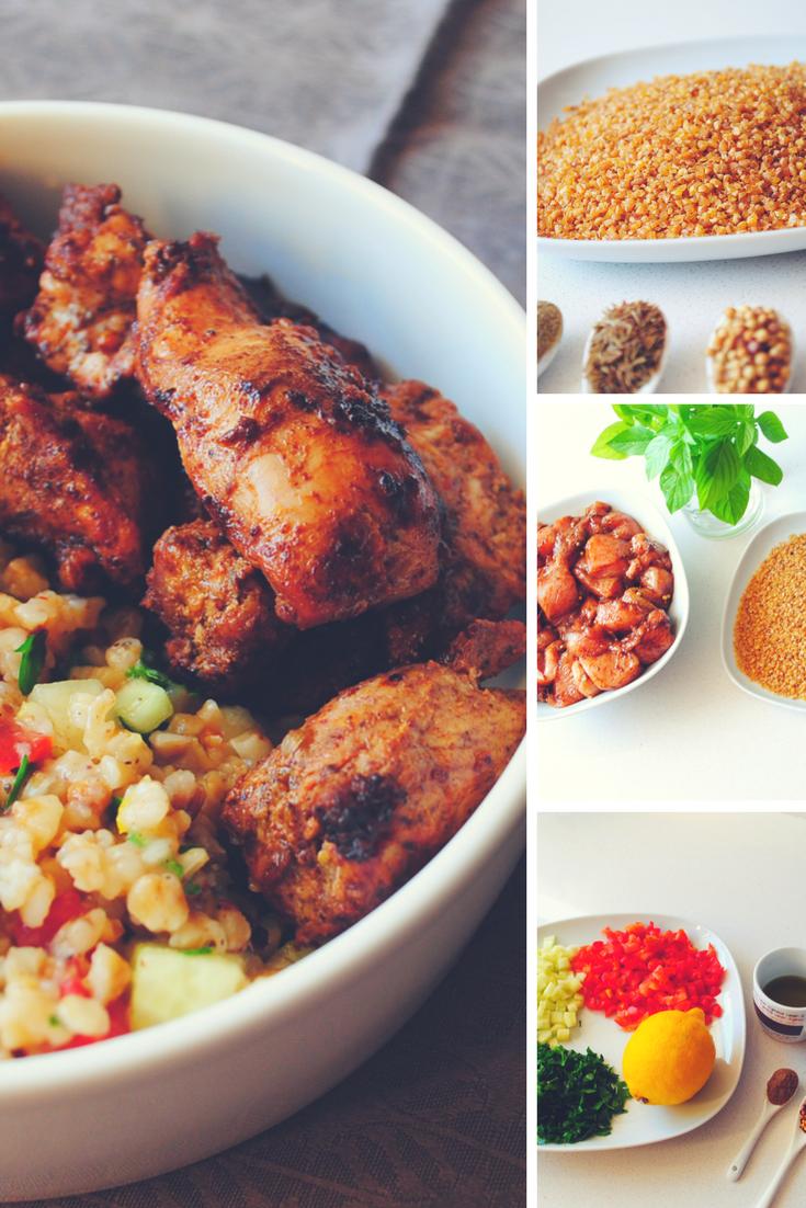 Κοτόπουλο από την Ανατολή με σαλάτα πλιγούρι! | chicken with tampoule salad