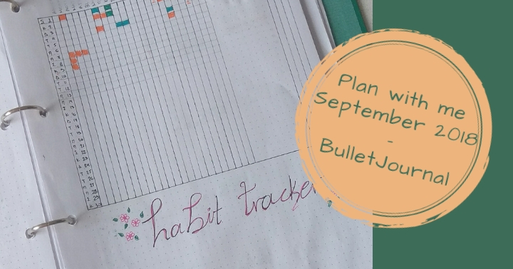 Plan with me, September 2018.