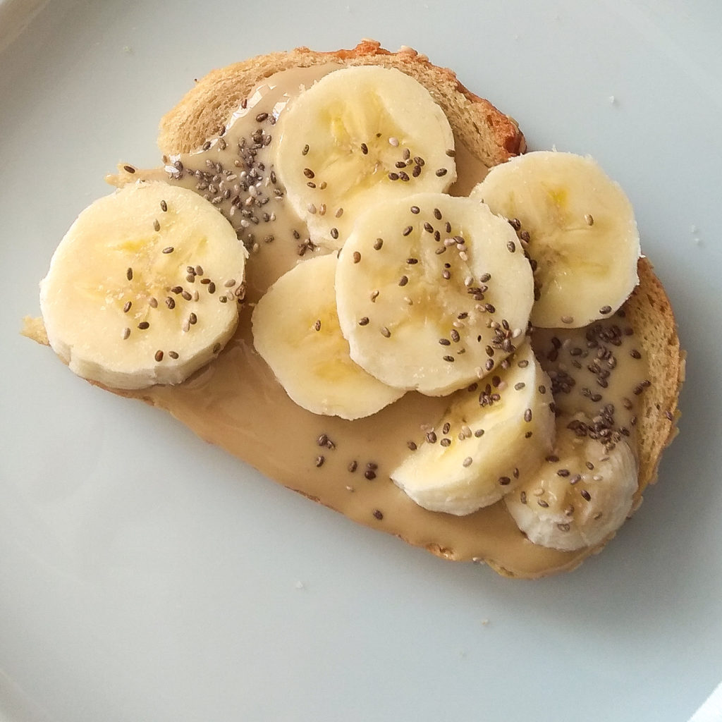 ταχίνι με μπανάνα και chia seeds